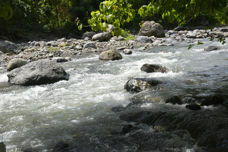 Riverbed of Napan river, situated at Sitio Napan, Brgy. Goma, Digos City, Davao del Sur, Philippines stock photo