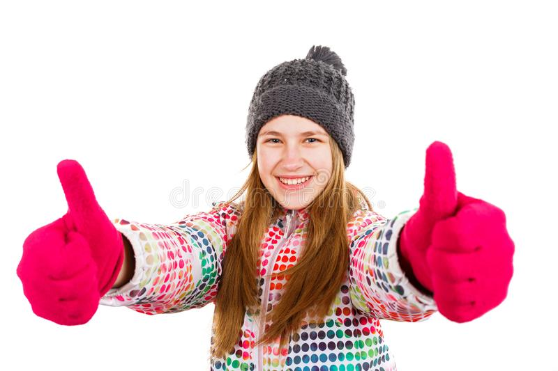 Smiling young girl royalty free stock photo