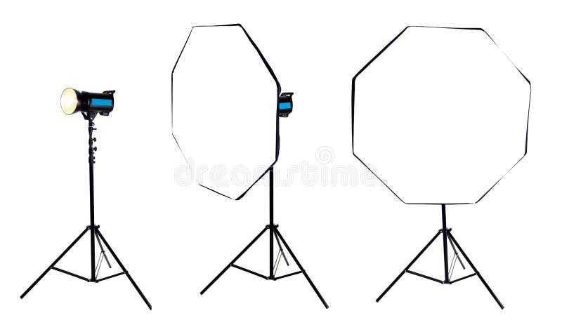 Download Photo Softbox Octabox On Studio Flash. Isolated Stock Photo - Image: 41282980