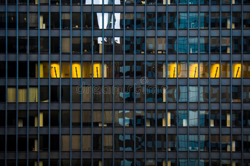 Architecture in Chicago. Windows. royalty free stock photography