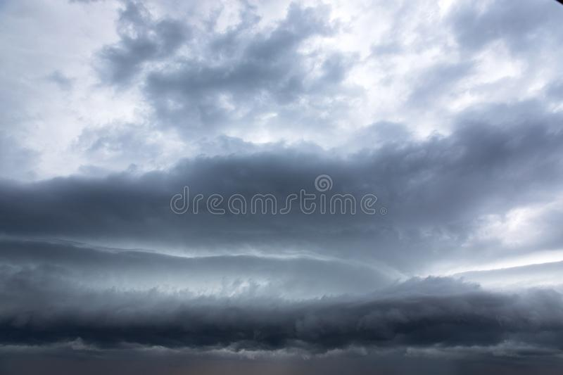 Stormclouds gathering on the sky. Photo of some Stormclouds gathering on the sky at evening stock photography
