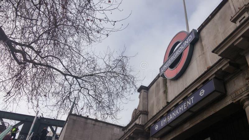 Photo souterraine à Londres photo libre de droits