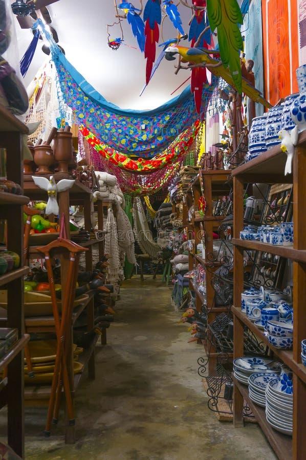 Souvenir Store in Paraty. Photo of a souvenir store in Paraty - Rio de Janeiro - Brazil royalty free stock photography