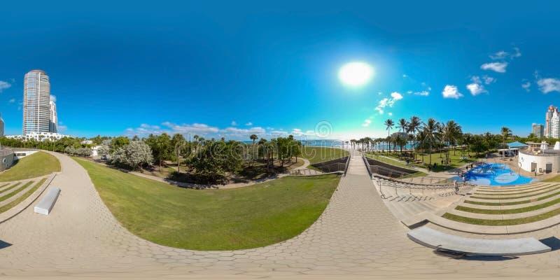 360 photo sphérique équirectangulaire Miami Beach FL photo stock