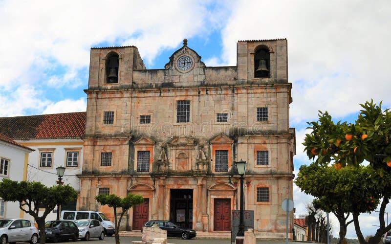 St. Bartholomew`s Church and the orange tree stock image