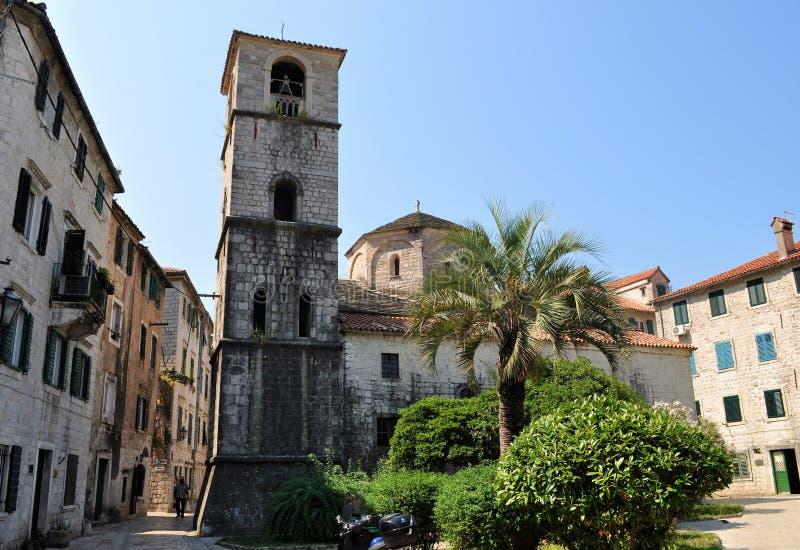 St. Mary's church - Kotor city stock photos