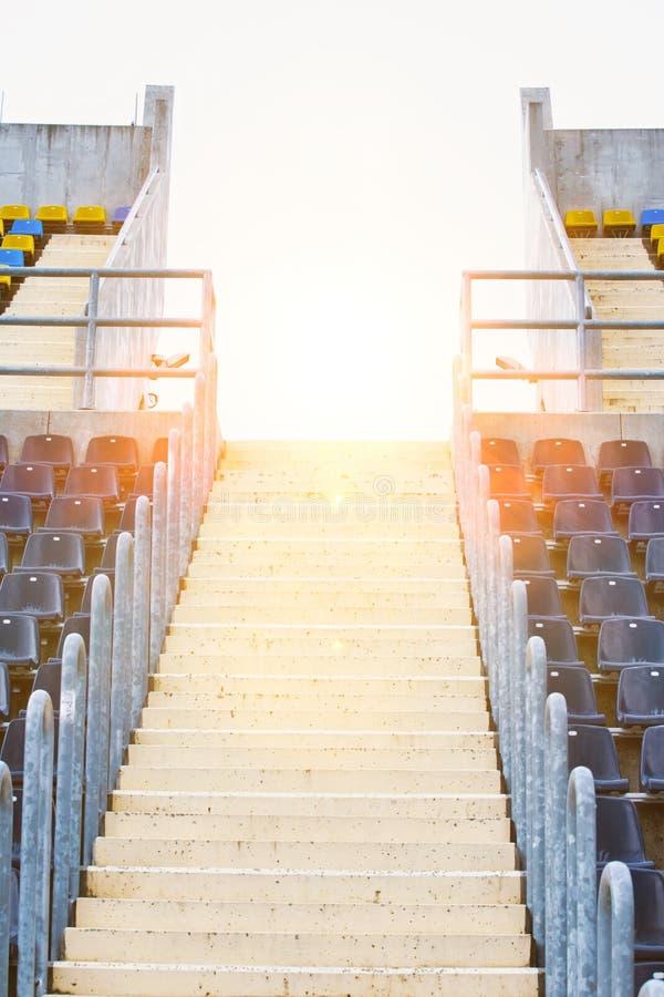 Photo of stadium seats. Closeup Photo of stadium seats stock photography