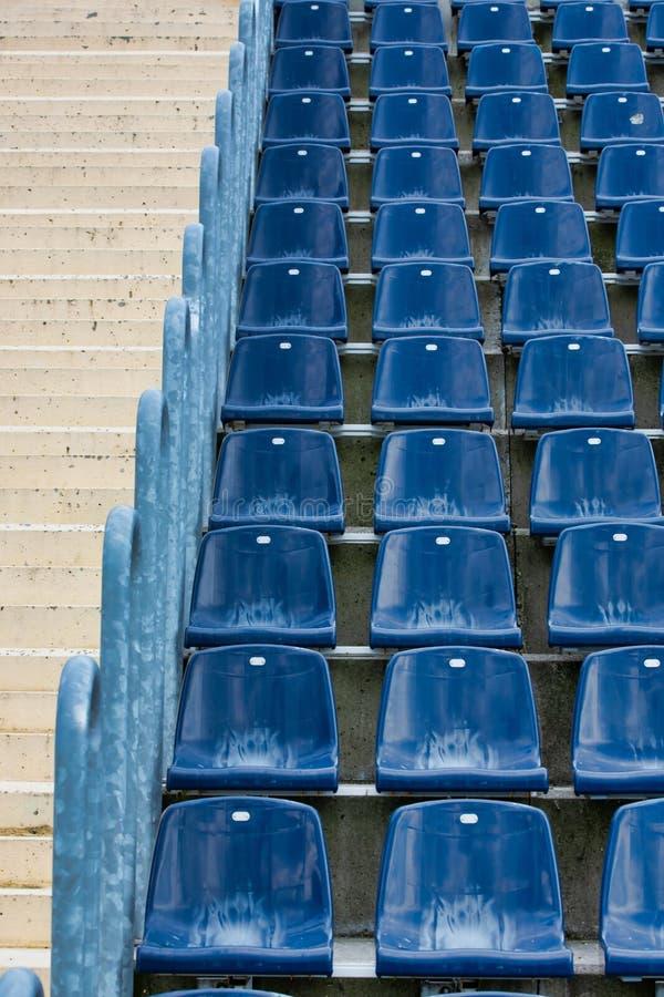 Photo of stadium seats. Close up Photo of stadium seats royalty free stock image