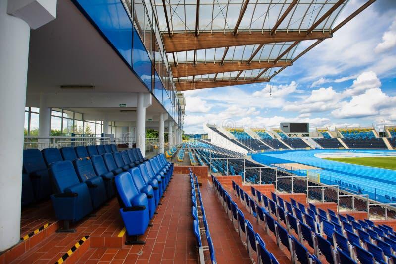 Photo of stadium seats. Photo of Olympic stadium seats stock photos