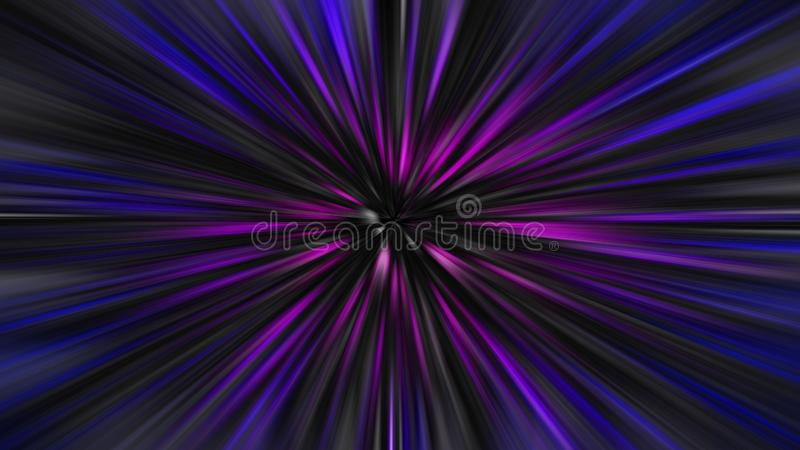 Space travel time tunnel warp speed spaceship star trek zoom light stars galaxy. Photo of a star trek warp speed travel through galaxy planets ideal for own text stock illustration