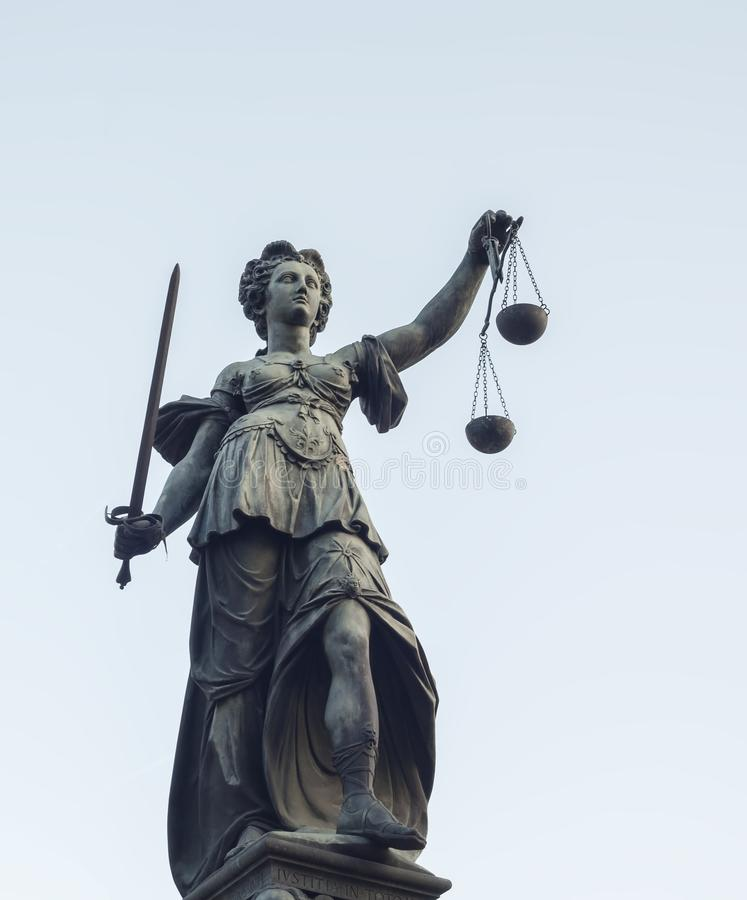 Photo of statue of Lady Justice statue royalty free stock photos