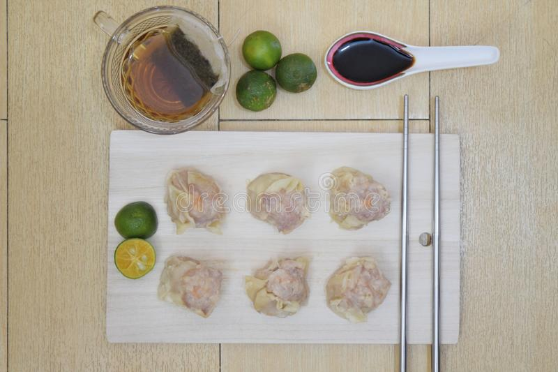 Steamed siomai. A photo of steamed Chinese dumplings royalty free stock photography