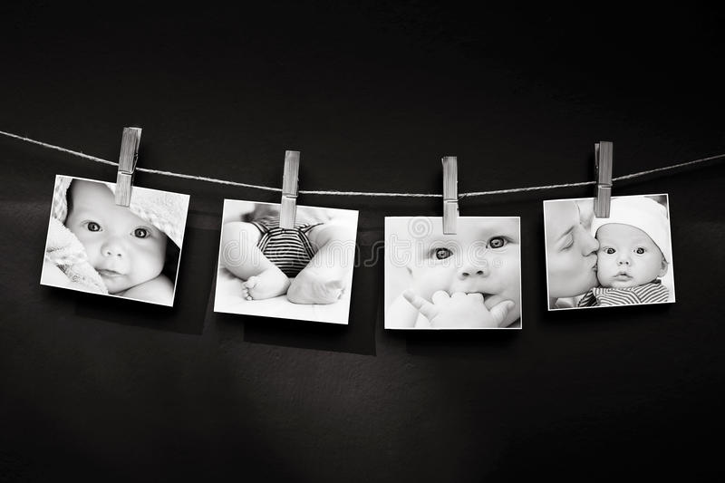 Photo story of baby and mother stock photography