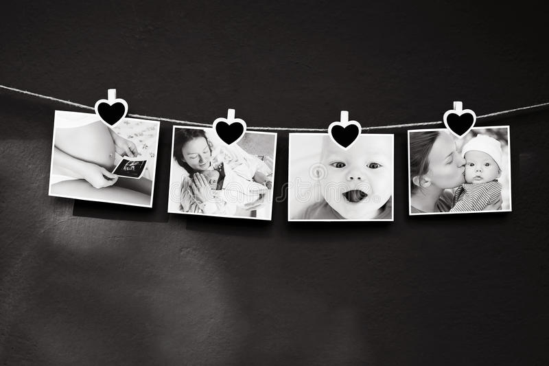 Photo story of baby and mother royalty free stock photos