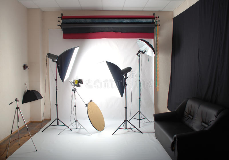 Download Photo studio stock photo. Image of wall, copy, strobe - 14288850