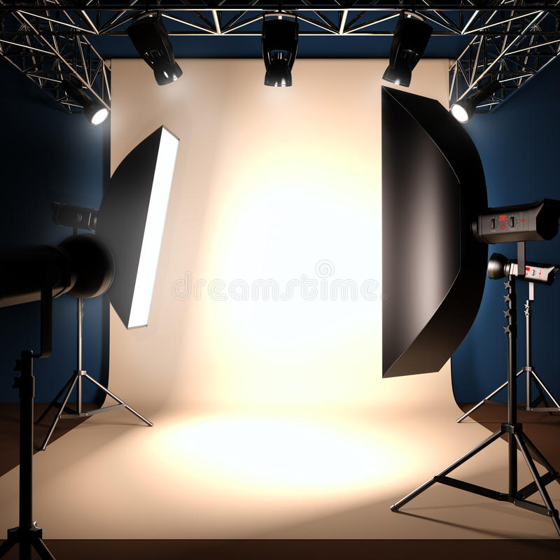 A photo studio background template. royalty free illustration