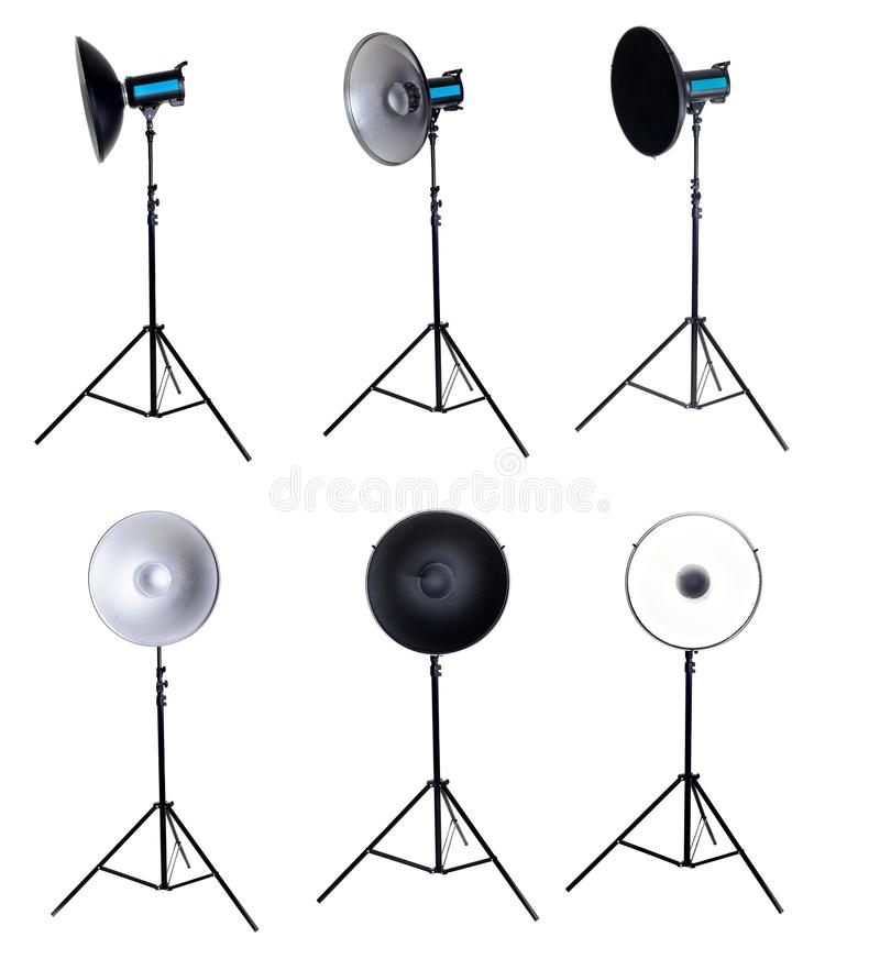 Download Photo Studio Equipment Beauty Dish Isolated Stock Photo - Image: 41283362