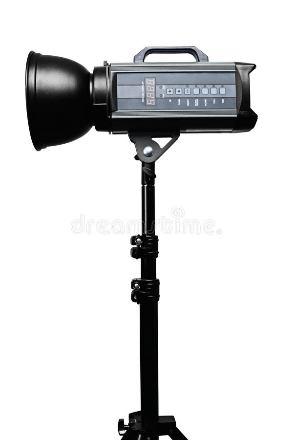 Photo studio flash lighting equipment royalty free stock photography