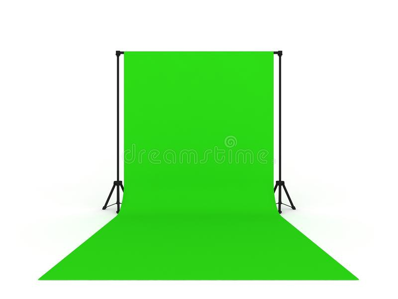 Photo Studio with Green Screen royalty free illustration