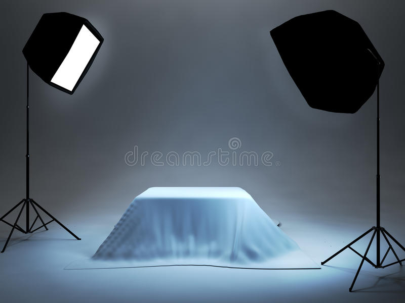 Photo studio setup for object photo shoot royalty free stock photography