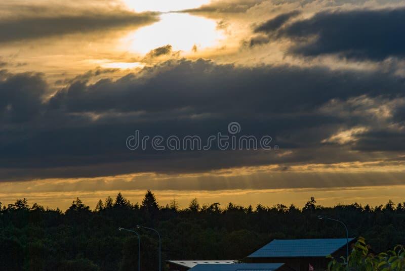 Photo of sunset in Switzerland stock photography