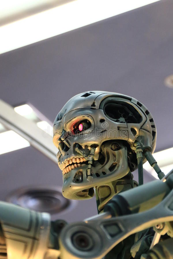 Photo of the T-800,TERMINATOR royalty free stock image