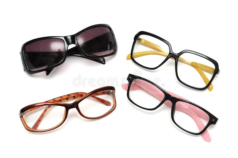 An assortment of fanciful decorative spectacles stock photos