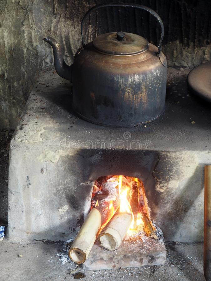 Artisan coffee roasting in Indonesia, on the island of Bali. Photo taken in August 2018 in a handicraft production of coffee and cocoa in Bali royalty free stock photo