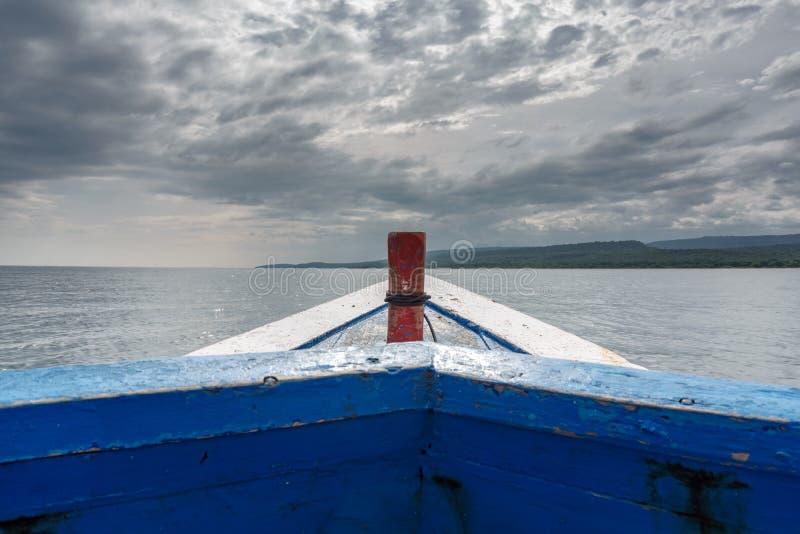 Boat to Menjangan Island. This photo taken on the boat enroute to Menjangan Island Bali, Indonesia royalty free stock image