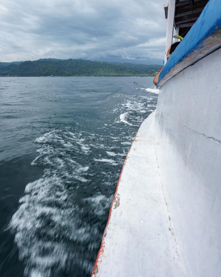 Boat to Menjangan Island. This photo taken on the boat enroute to Menjangan Island Bali, Indonesia royalty free stock photo