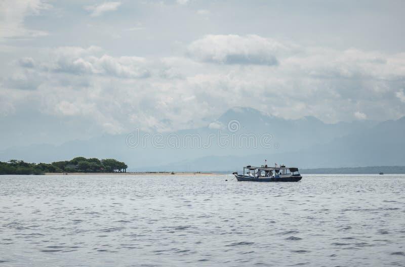 Boat to Menjangan Island. This photo taken on the boat enroute to Menjangan Island Bali, Indonesia stock image