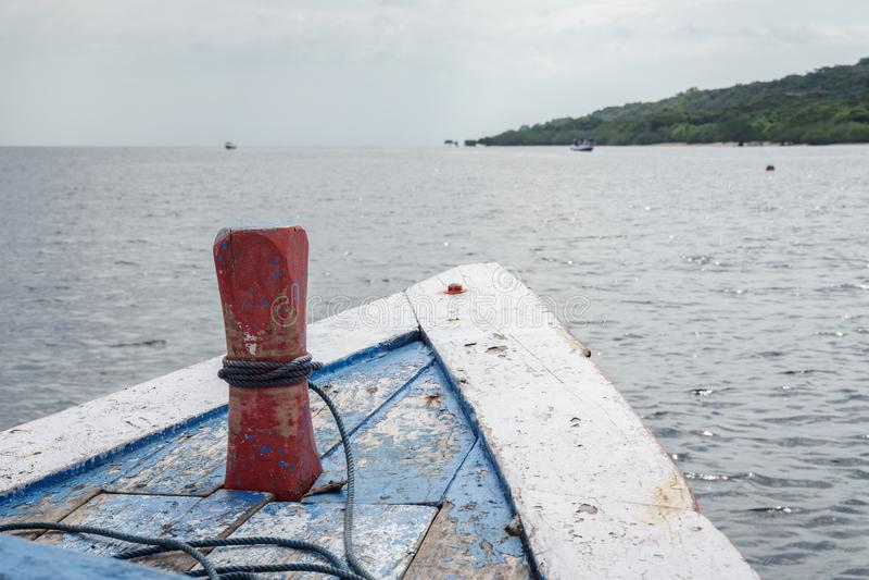 Boat to Menjangan Island. This photo taken on the boat enroute to Menjangan Island Bali, Indonesia stock photography