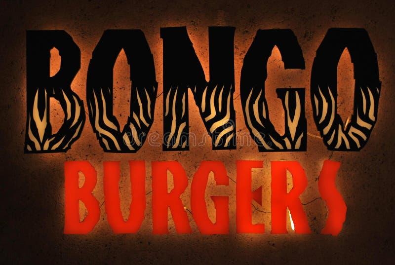 Bongo Burgers fast food restaurant logo royalty free stock photography