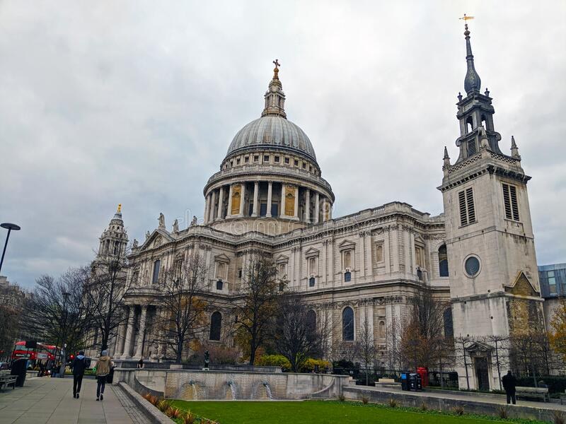 St Pauls at Christmas Time royalty free stock photography