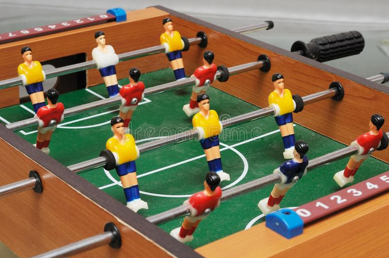 A colorful table football game set royalty free stock image