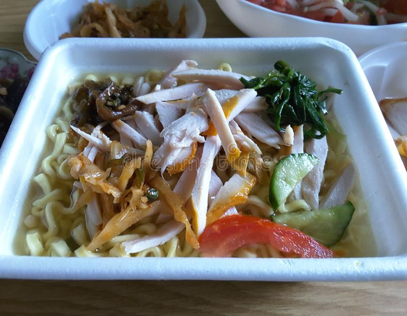 Appetizing instant noodles stock photos