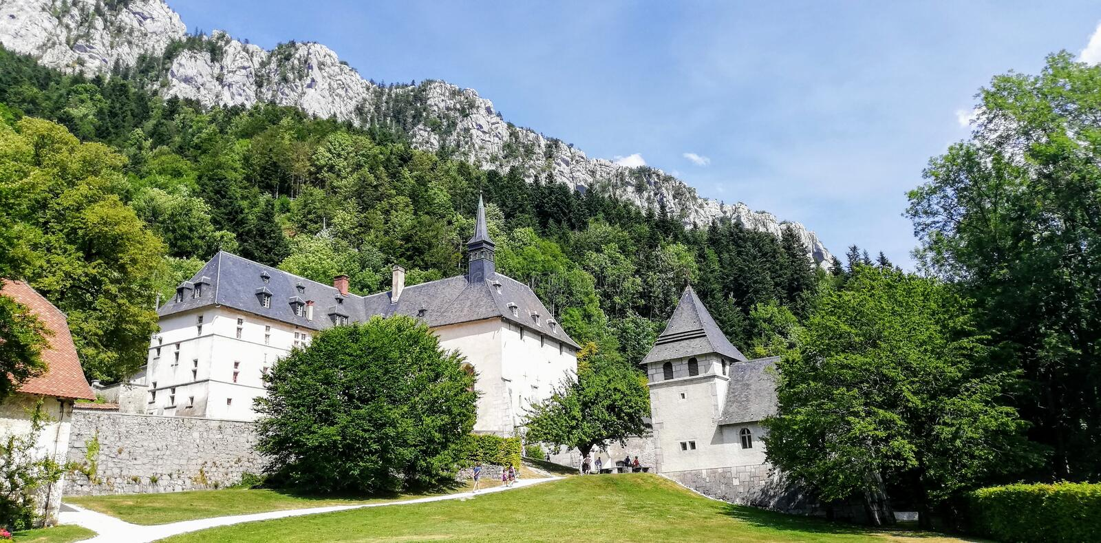 The historic building of the Carthusian monastery in France. Photo taken in July 2019 about The historic building of the Carthusian monastery in France stock photos