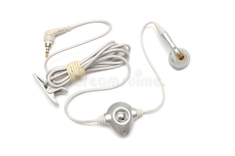 A hand-sfree earphone for mobile cell phone royalty free stock photography