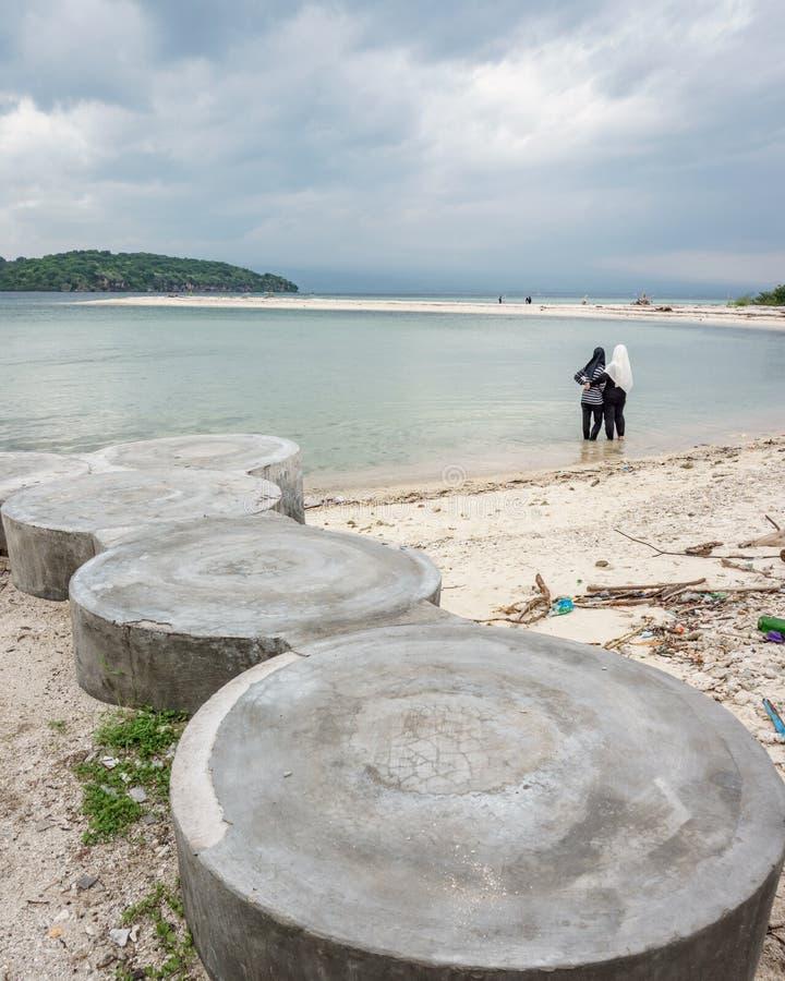 Beachon Menjangan Island. This photo taken on Menjangan Island Bali, Indonesia SOuth East Asia stock image