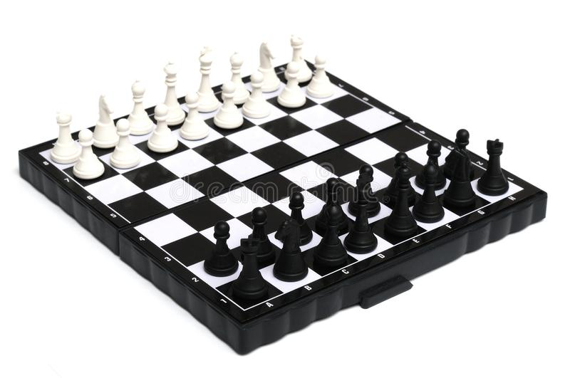 English chess set royalty free stock image