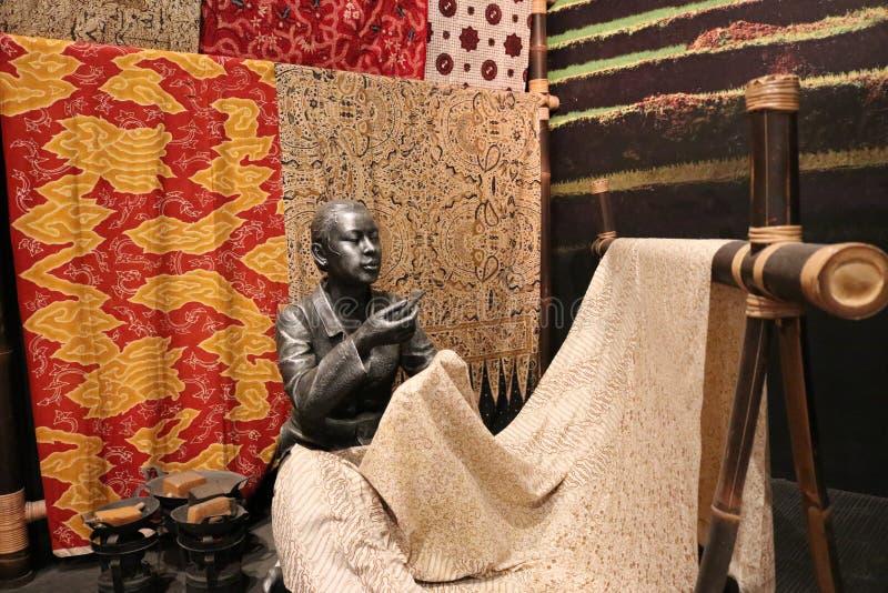 Batik statue stock photo