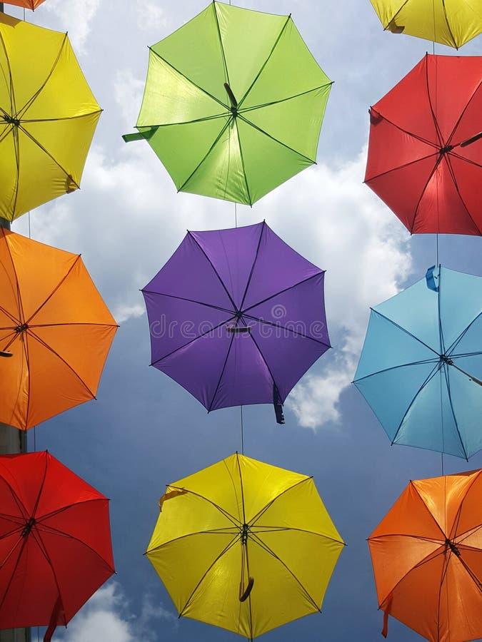 Under my umbrellas stock images