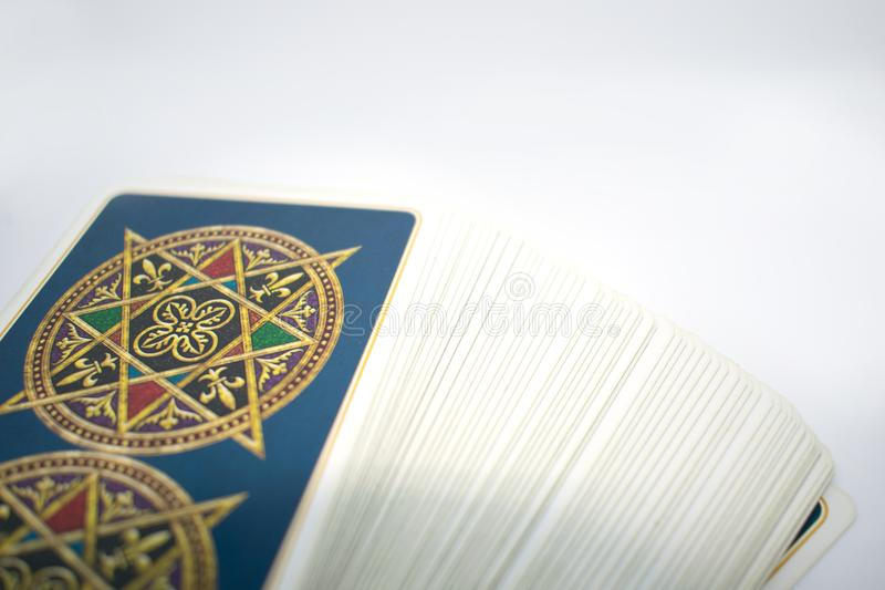 Photo of tarot card. royalty free stock image