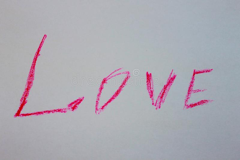 A photo of one of the word love royalty free stock images