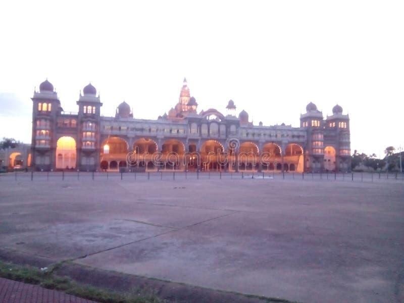 Photo timeing de jour de palais de Mysore image stock