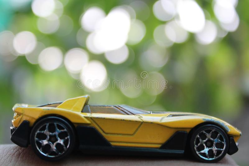 The toy car royalty free stock photos