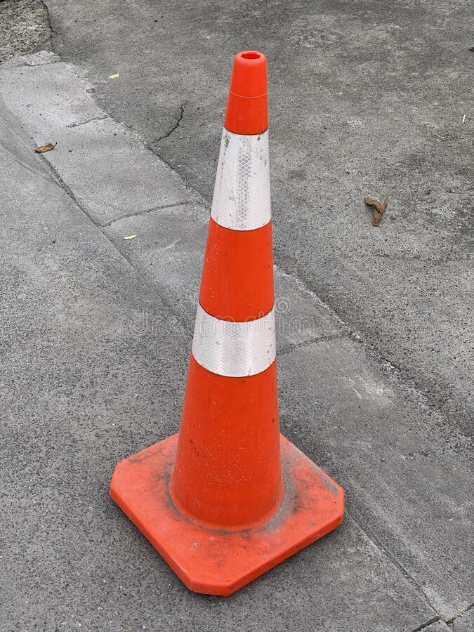Photo of a traffic cone or road cone stock image