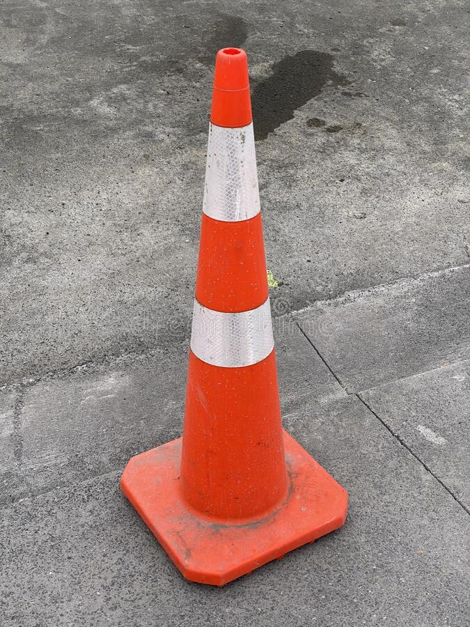 Photo of a traffic cone or road cone royalty free stock image