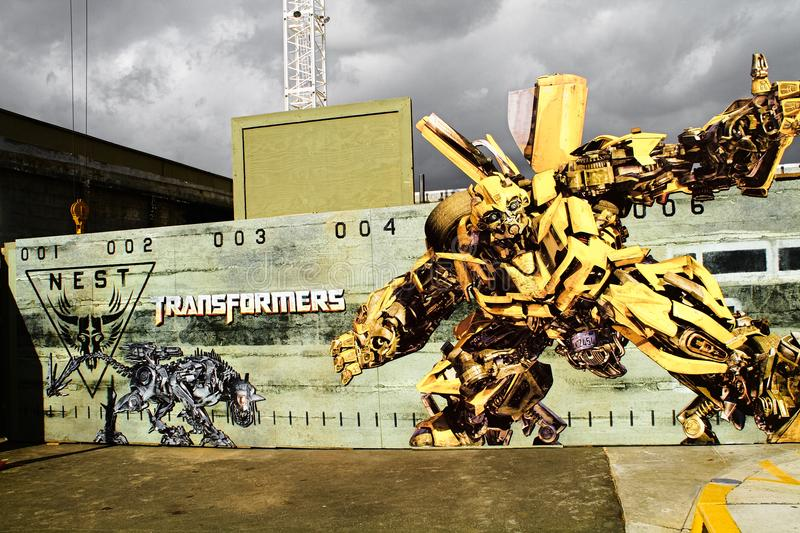Photo Of `Transformers The Ride` Information Wall Poster Panel ...