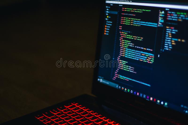 Photo of Turned on Laptop Computer stock photos